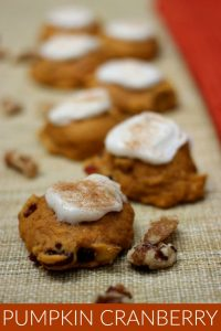 Pumpkin Cranberry Cookies