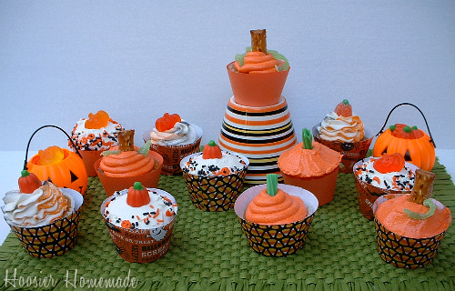 Psst See Those Cute Orange And Black Striped Cupcakes
