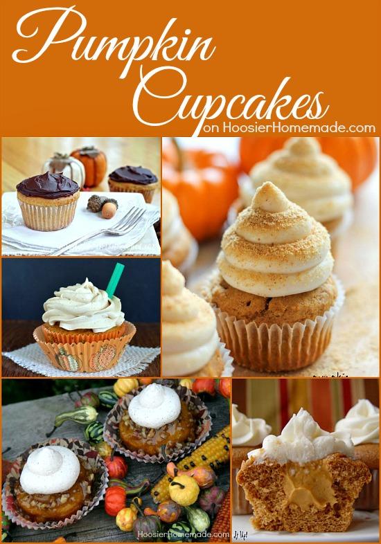 Pumpkin Cupcakes on HoosierHomemade.com