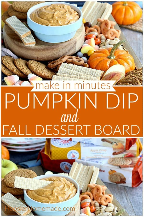 Pumpkin Dip with Dessert Board for Fall