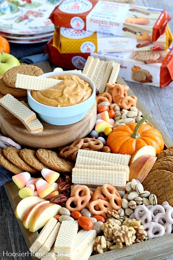 Pumpkin Dip with Dessert Tray and Voortmans wafers and cookies