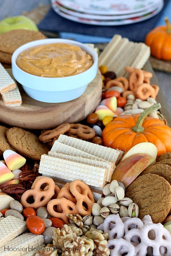 Dessert Board for Fall with Pumpkin Dip