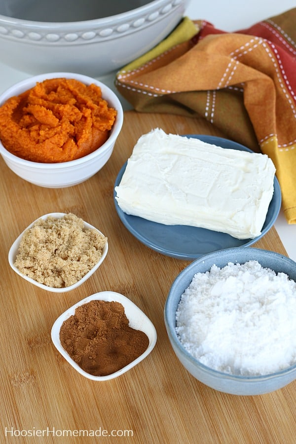 Pumpkin Dip Ingredients