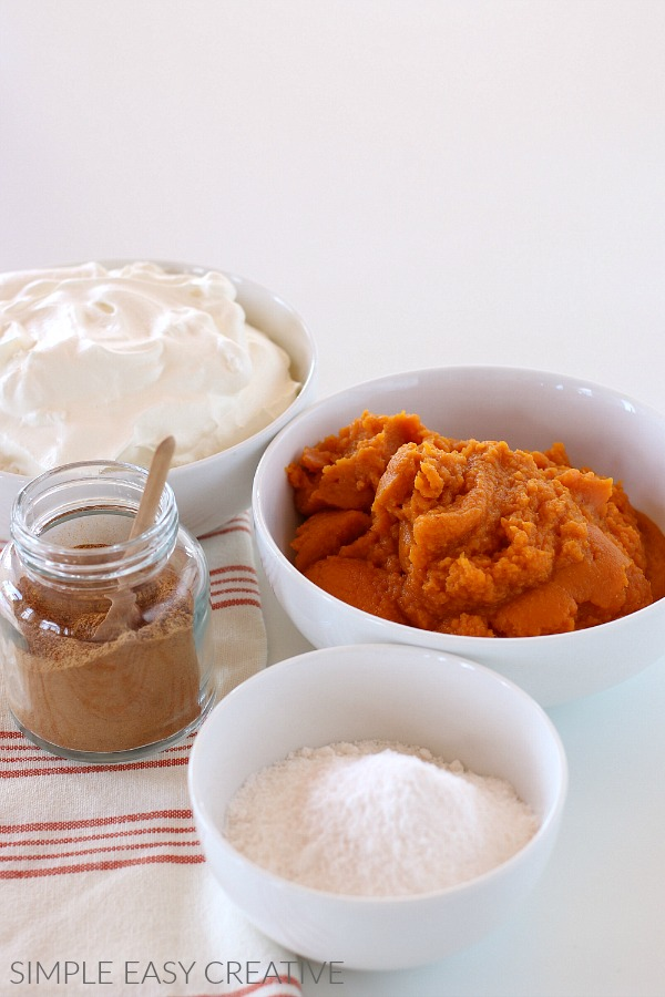 Ingredients for Pumpkin Fluff Recipe