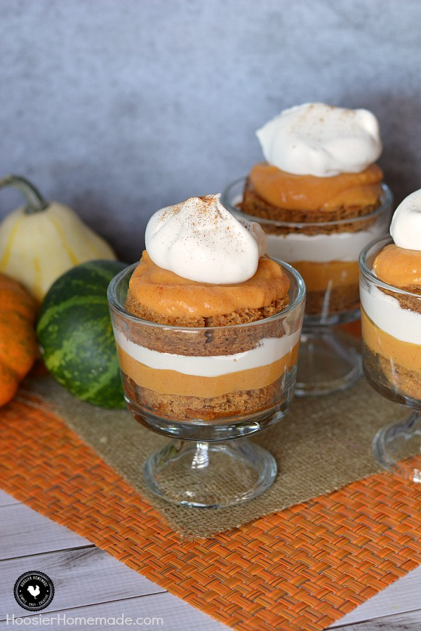 Trifles are one of the EASIEST yet impressive looking desserts ever! This Pumpkin Gingerbread Trifle is packed with flavor! Use a Gingerbread Cake or Spice Cake - either way it's delicious!
