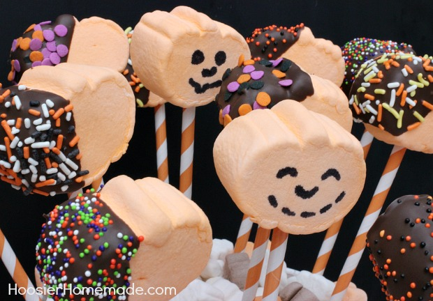 Pumpkin Marshmallow Pops 15 Minute Halloween Treat