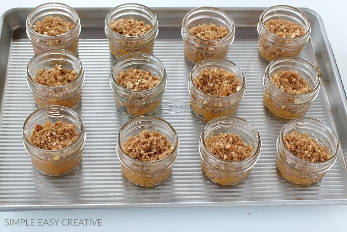 Pumpkin Pecan Cobbler in a jar