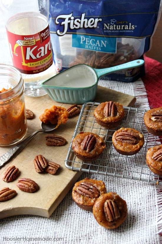 Here's a new spin on Pumpkin Pie that everyone will love! These Pumpkin Pecan Pie Bites are easy to make and go together quickly! Pin to your Recipe Board!