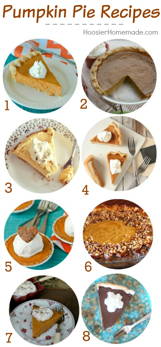 Love Pumpkin? You MUST try one of these delicious Pumpkin Pie Recipes! Pin to your Baking Board!