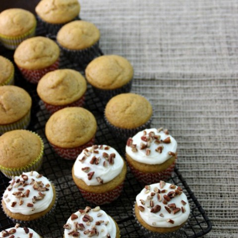 Pumpkin Pie Spice Cupcakes with Cream Cheese Frosting