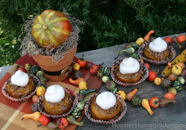 Pumpkin Praline Cupcakes Recipe on HoosierHomemade.com