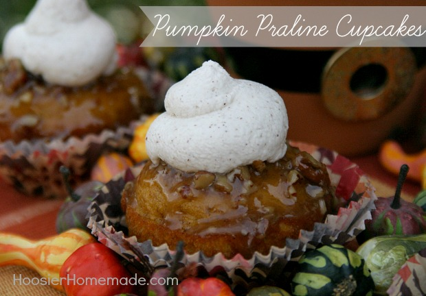 Pumpkin Praline Cupcakes Recipe on HoosierHomemade.com