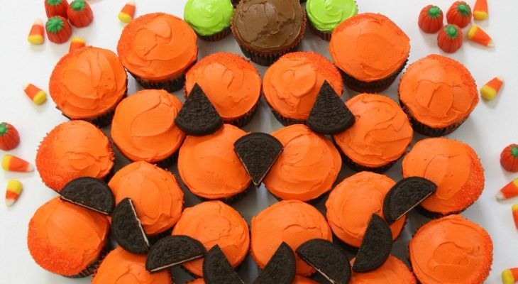 Pumpkin Pull-Apart Cupcakes