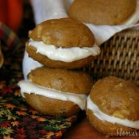 Pumpkin Whoopie Pies with Cream Cheese Caramel Filling Recipe