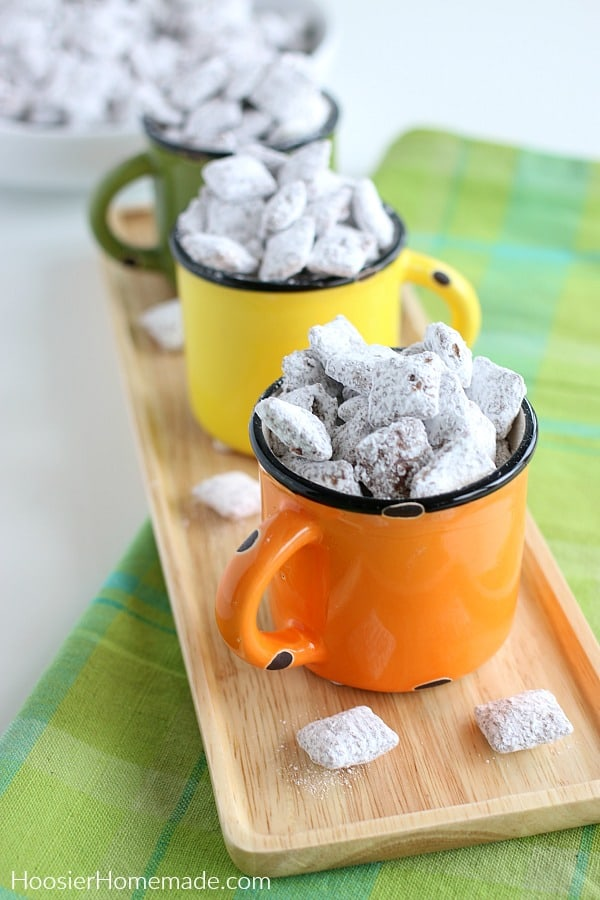 Puppy Chow in cups