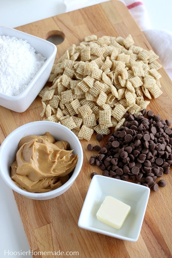 Ingredients for Puppy Chow Recipe