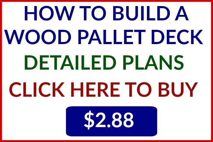 Plans to build a Wood Pallet Deck