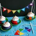 Rainbow Cupcakes with Printable Bunting :: HoosierHomemade.com