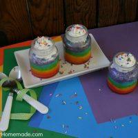 Rainbow Cupcakes in a Jar