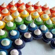 Rainbow Cupcakes :: HoosierHomemade.com
