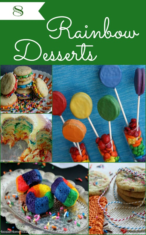 8 Rainbow Desserts on HoosierHomemade.com