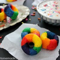 Mini Rainbow Doughnuts