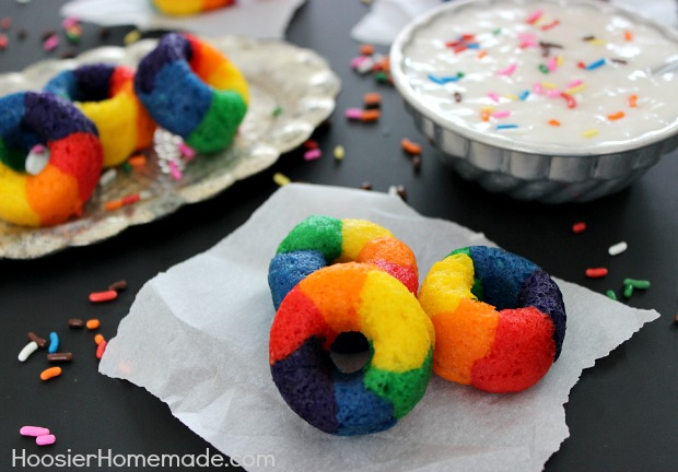 Mini Rainbow Doughnuts Hoosier Homemade