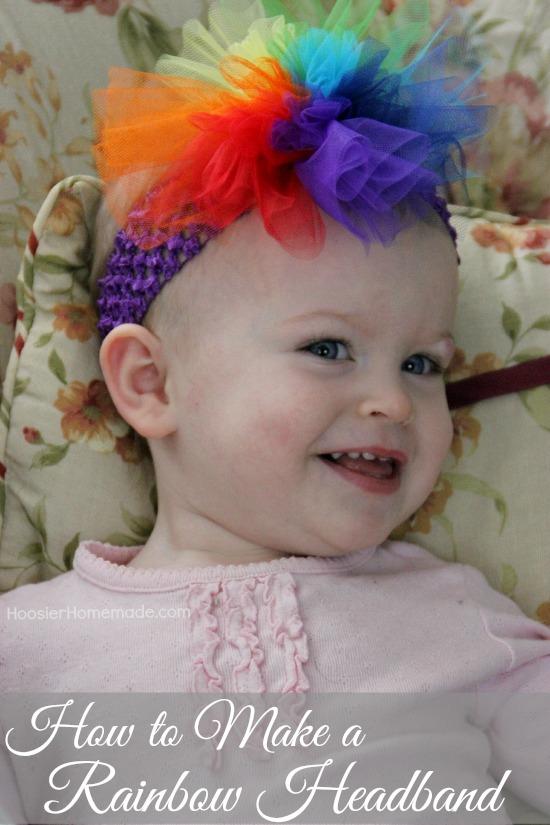 How to Make a Rainbow Headband | Instructions on HoosierHomemade.com