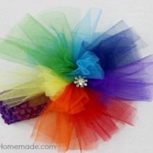How to Make a Rainbow Headband | Instructions on HoosierHomemade.com