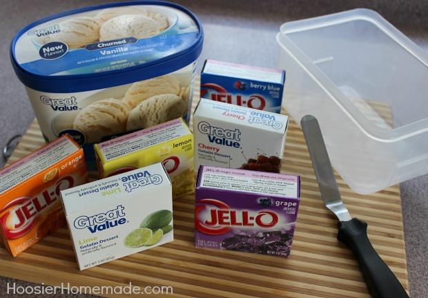 Rainbow Ice Cream Recipe :: HoosierHomemade.com