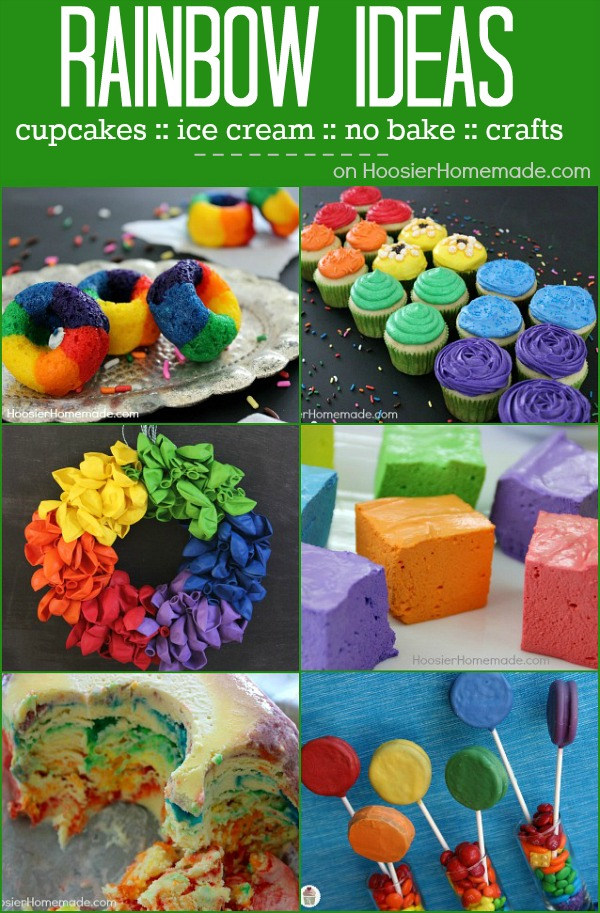 Rainbow Crafts and Recipes - add a little color to your world with these fun and simple to make Rainbow Crafts and Recipes! Cupcakes, Doughnuts, No Bake Treats and more!