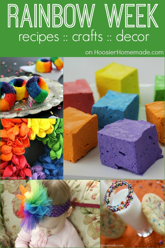 Rainbow Week: Recipes, Craft & Decor | on HoosierHomemade.com