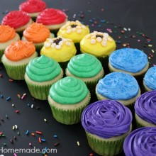 Rainbow Cupcakes :: Instructions on HoosierHomemade.com