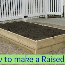How to make a Raised Garden Bed :: HoosierHomemade.com