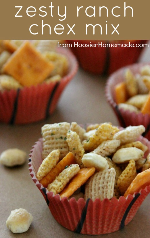 Zesty Ranch Chex Mix :: Recipe on HoosierHomemade.com
