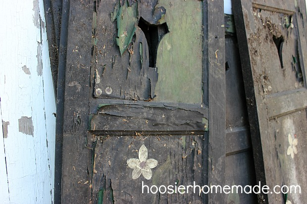 Re-Purposing Shutters on HoosierHomemade.com