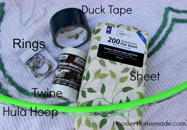 Easy DIY Hula Hoop Tent  :: Instructions on HoosierHomemade.com