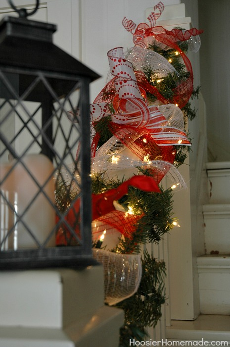Battery Operated Christmas Garland With Timer