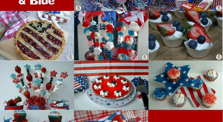 Red White and Blue Desserts on HoosierHomemade