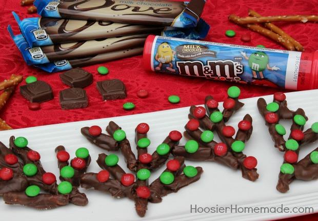 Kid's Christmas Treat: Reindeer Antlers on HoosierHomemade.com