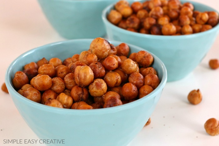 Roasted Chickpeas made in the Air Fryer