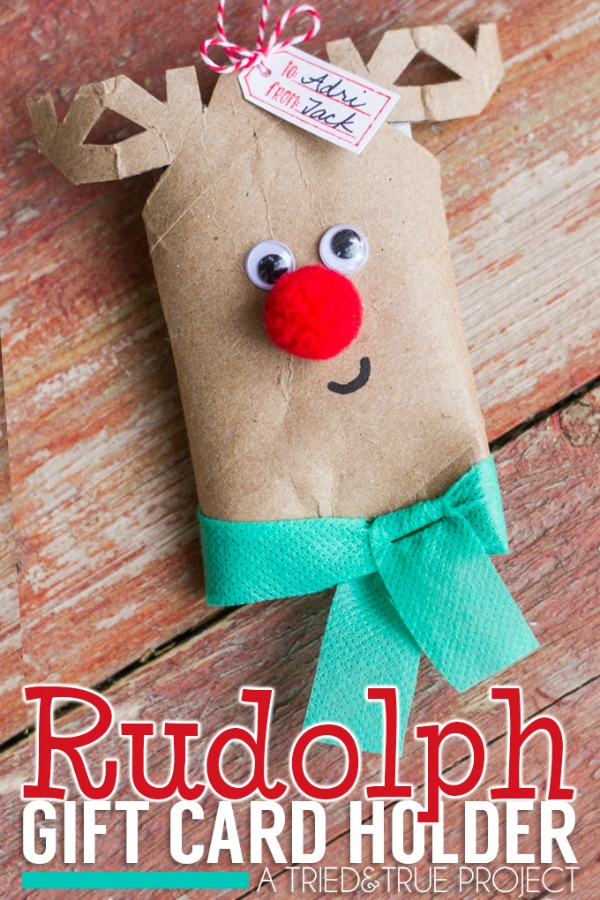 rudolph gift card holder holiday inspiration hoosier homemade