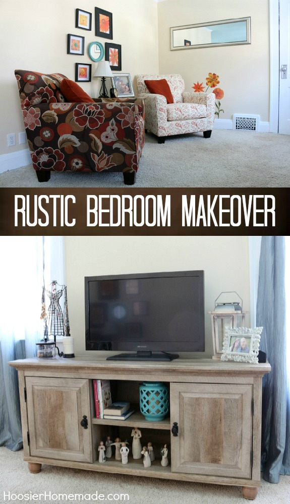 Rustic Bedroom Makeover - this relaxing and calm bedroom will inspire you! Pin to your DIY Board!