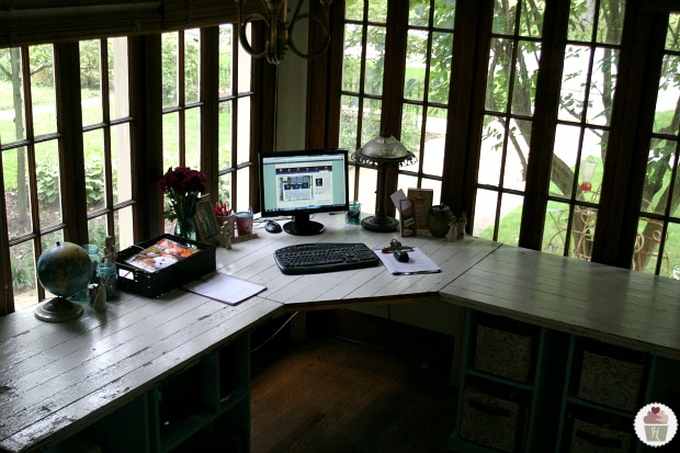Rustic Office Desk Pottery Barn Style Hoosier Homemade