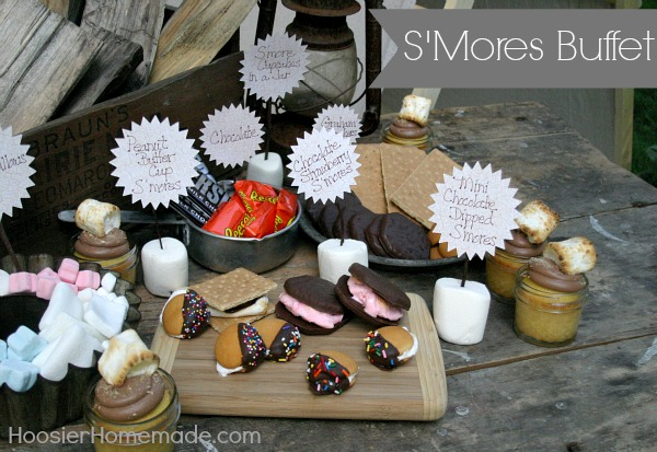 S'Mores Buffet from HoosierHomemade.com