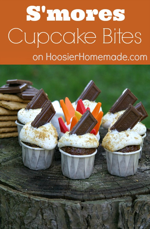 S'Mores Cupcake Bites :: Recipe on HoosierHomemade.com