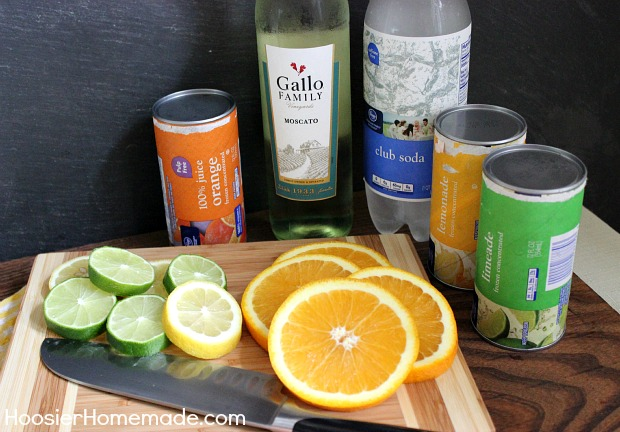 Refreshing Summer Sangria :: Recipe on HoosierHomemade.com
