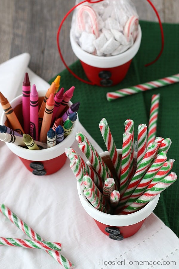Christmas Craft painted Terra Cotta Pot