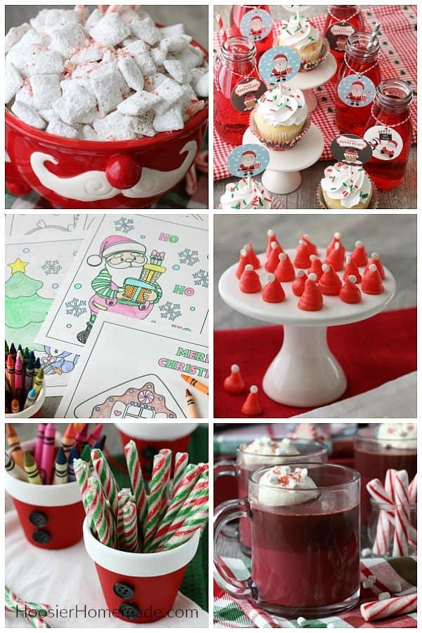 Santa Themed Treats and Crafts