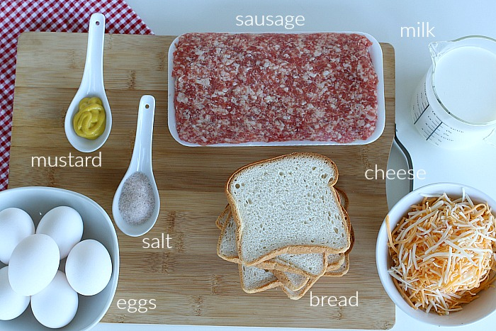 Ingredients for Sausage Casserole